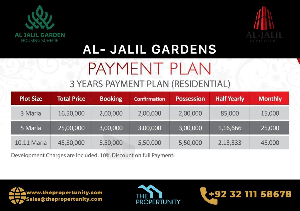 Al Jalil Garden Payment Plan